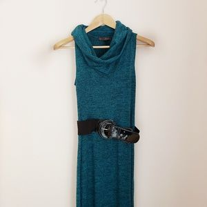 🍁HeartSoul CowlNeck Maxi Sleeveless Sweater Dress